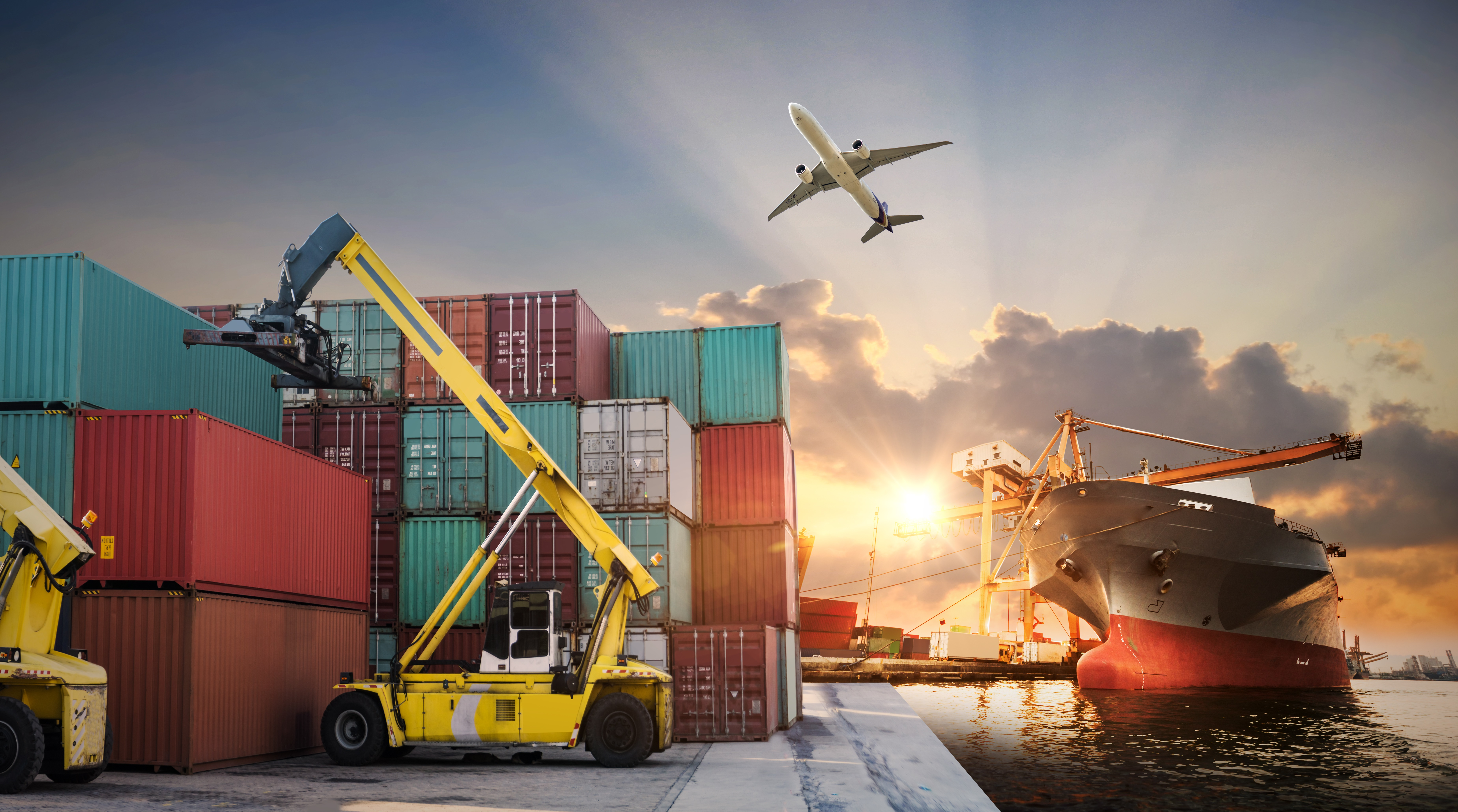 Business Logistics And Transportation Concept Of Container Cargo